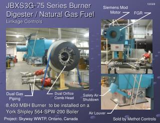 JBXS3G-75 Series Burner Digester / Natural Gas Fuel Linkage Controls
