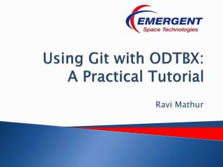 Using  Git  with ODTBX: A Practical Tutorial