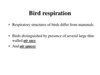 Bird respiration