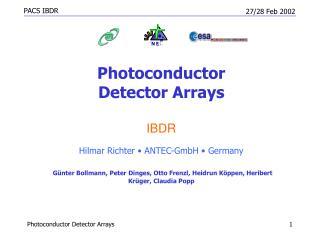 Photoconductor  Detector Arrays IBDR