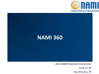 2013 NAMI National Convention June 27-30 San Antonio, TX