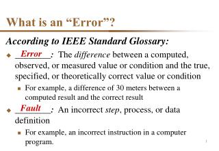 """What is an """"Error""""?"""