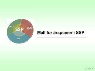 Mall för årsplaner i SSP