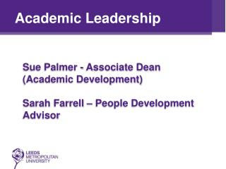 Academic Leadership