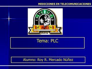 Tema: PLC