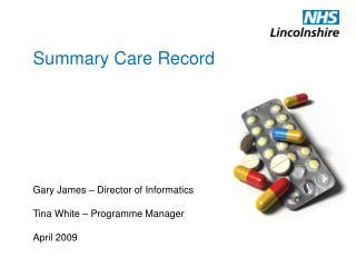 Summary Care Record