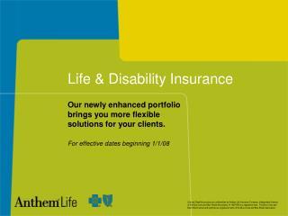 Life  Disability Insurance