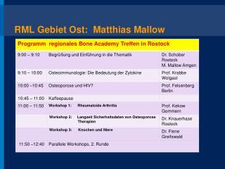 RML Gebiet Ost:  Matthias Mallow