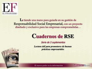 C uadernos de  RSE Serie de 5 suplementos