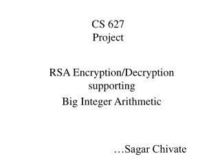 CS 627 Project