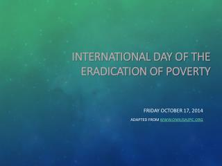 International Day of the  Eradication of Poverty