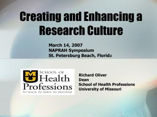Creating and Enhancing a      Research Culture