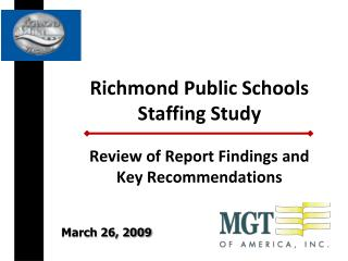Richmond Public Schools Staffing Study
