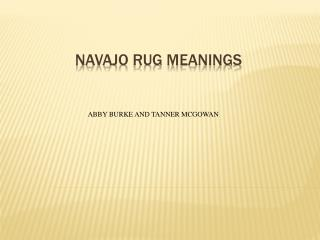 Navajo Rug Meanings