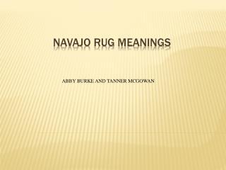 Navajo Rug Meanings