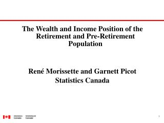 The Wealth and Income Position of the Retirement and Pre-Retirement Population