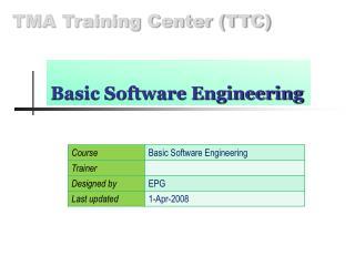 Basic Software Engineering