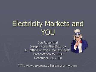 Electricity Markets and YOU