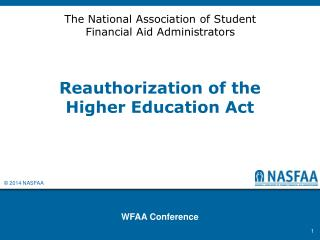 Reauthorization of the Higher Education Act