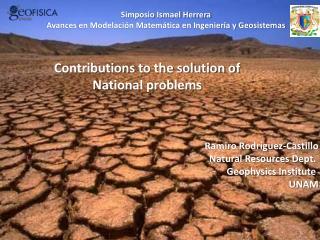 Simposio Ismael Herrera Avances en Modelación Matemática en Ingeniería y Geosistemas