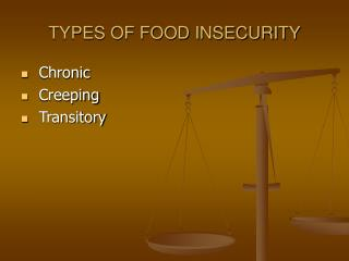 TYPES OF FOOD INSECURITY