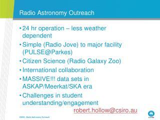 Radio Astronomy Outreach