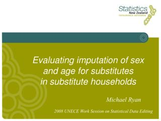 Evaluating imputation of sex  and age for substitutes  in substitute households