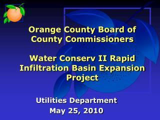 Utilities Department May 25, 2010