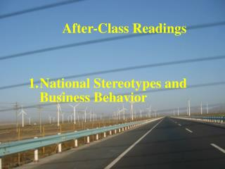 After-Class Readings