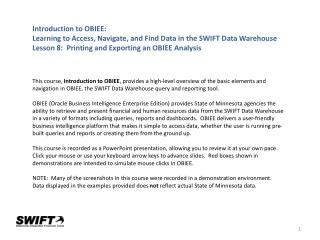 Introduction  to OBIEE:
