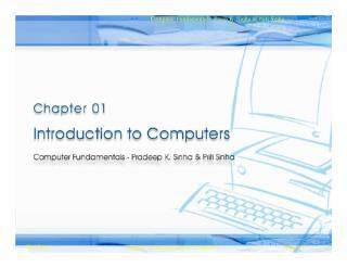 Computer Fundamentals: Preep K. Sinha & Priti Sinha