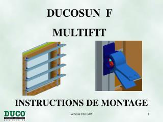 INSTRUCTIONS DE MONTA GE