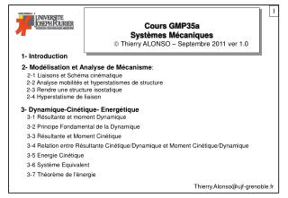 Cours GMP35a Syst�mes M�caniques