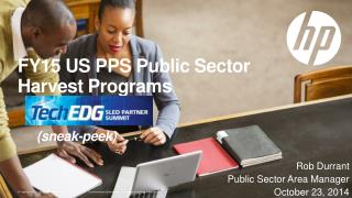 FY15 US PPS Public Sector  Harvest Programs (sneak-peek)