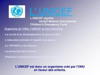 L' UNICEF