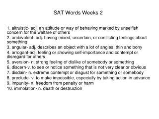 SAT Words Weeks 2