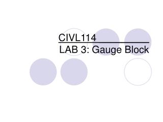 CIVL114 _________ LAB 3: Gauge Block