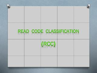 Read   Code   Cla s sification ( RCC )