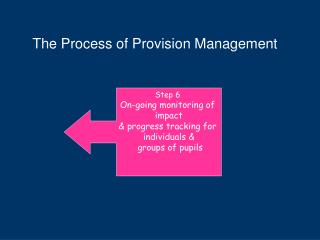 The Process of Provision Management