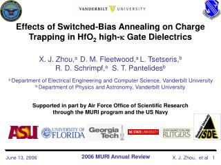 Effects of Switched-Bias Annealing on Charge Trapping in HfO 2  high-   Gate Dielectrics