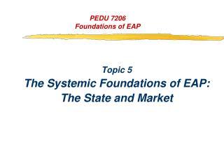 PEDU 7206 Foundations of EAP
