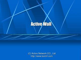 Active Wall