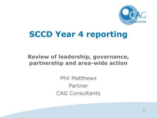 SCCD Year 4 reporting
