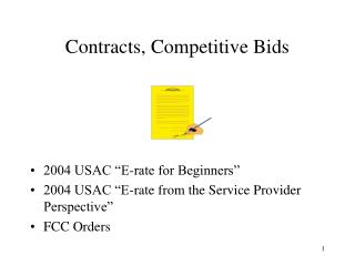 Contracts, Competitive Bids