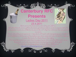 Welcome to the first ever Ladies Day at CRFC!