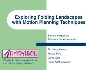 Exploring Folding Landscapes with Motion Planning Techniques