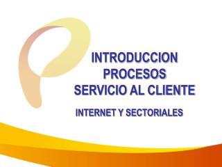 INTRODUCCION PROCESOS  SERVICIO AL CLIENTE