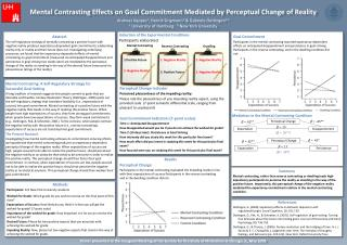Mental  Contrasting Effects  on Goal  Commitment Mediated by Perceptual  Change  of  Reality