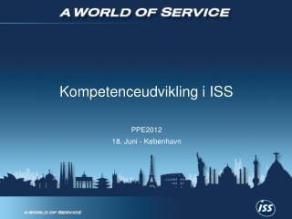 Kompetenceudvikling i ISS
