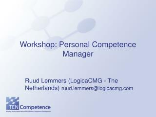 Workshop: Personal Competence Manager